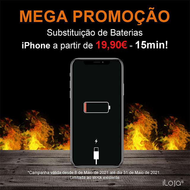Mega Promoção Troca de Baterias iPhone